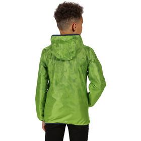Regatta Printed Lever Waterproof Shell Jacket Kids electric lime
